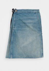 G-Star - LINTELL WRAP SKIRT - A-line skirt - antic faded marine blue - 0