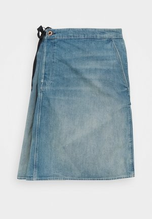 LINTELL WRAP SKIRT - Spódnica trapezowa - antic faded marine blue