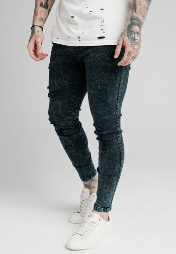 DISTRESSED - Jeans Skinny Fit - navy acid wash