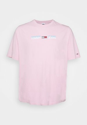 PLUS LINEAR LOGO TEE - T-shirt con stampa - romantic pink