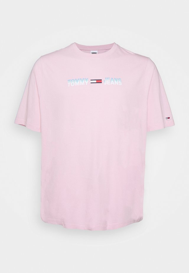 PLUS LINEAR LOGO TEE - T-shirts med print - romantic pink