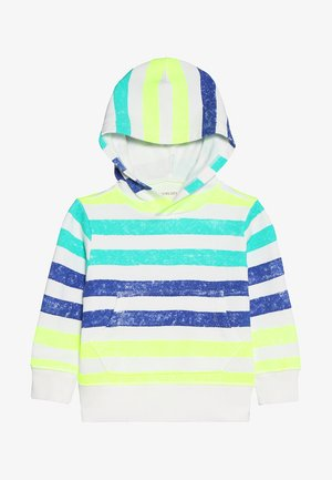 PAINTED STRIPES POPOVER HOODIE - Hoodie - off-white