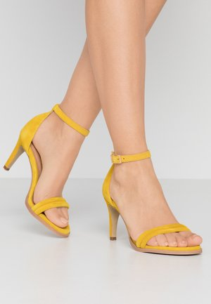 AMBER - High heeled sandals - yellow