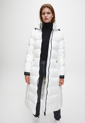 LOFTY  BELTED MAXI COAT - Down coat - snow white
