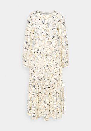 PRINTED MIDI DRESS - Shirt dress - creme