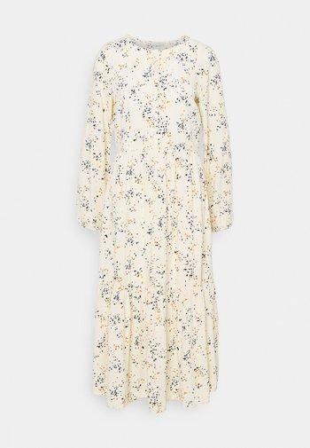 PRINTED MIDI DRESS - Shirt dress - creme