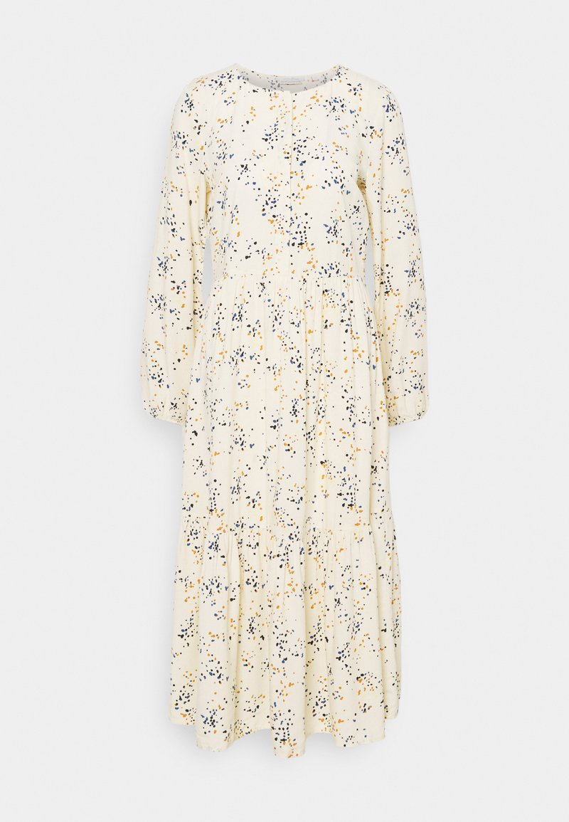 TOM TAILOR DENIM - PRINTED MIDI DRESS - Shirt dress - creme