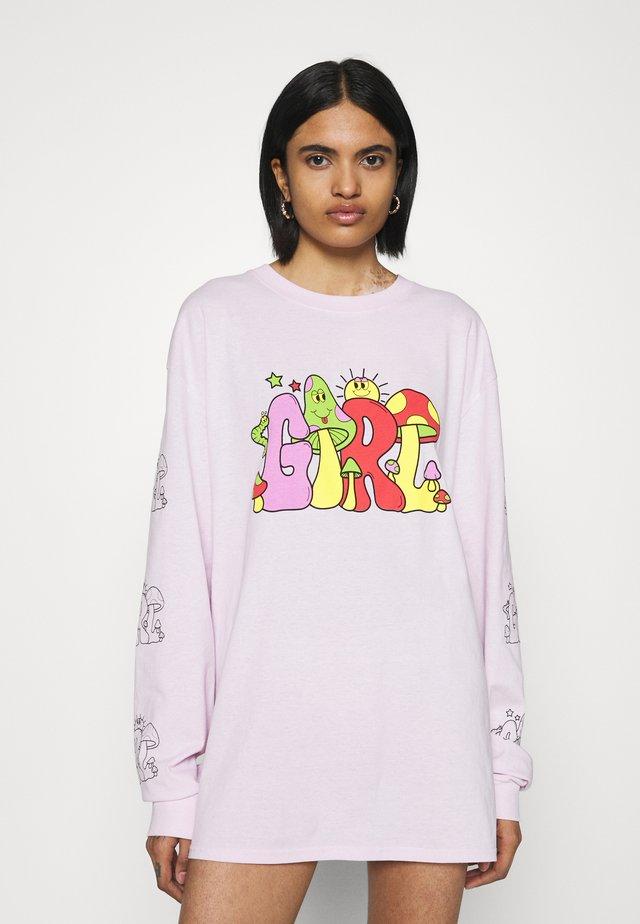 MUSHROOM GIRL TEE - Långärmad tröja - lilac