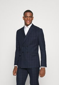 Isaac Dewhirst - THE FASHION SUIT PEAK WINDOW CHECK - Suit - dark blue - 2