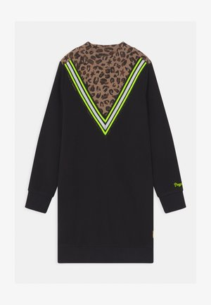 PRISILA LEOPARD - Day dress - deep black