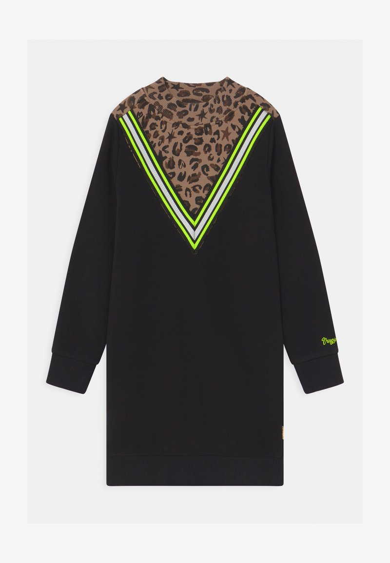 Vingino - PRISILA LEOPARD - Denní šaty - deep black