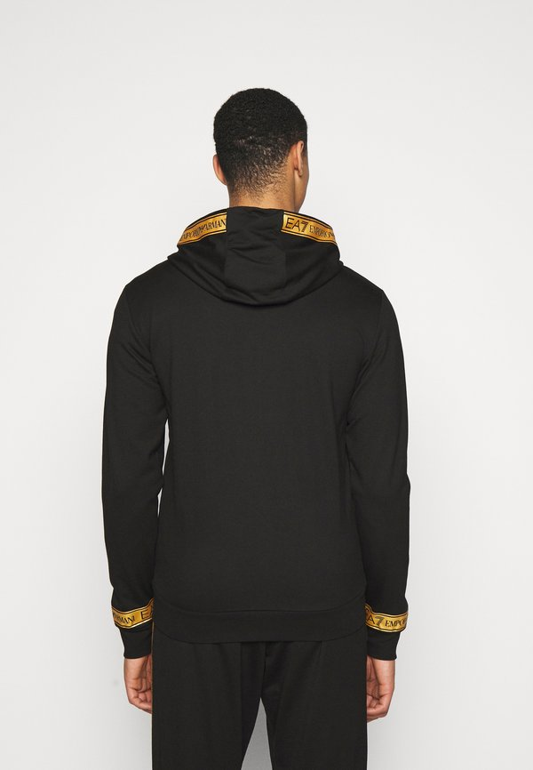 EA7 Emporio Armani Bluza rozpinana - black/gold/czarny Odzież Męska HUVS