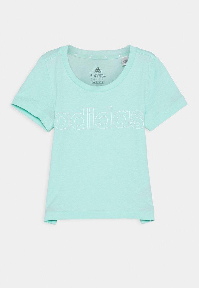 UNISEX - Print T-shirt - mint/white