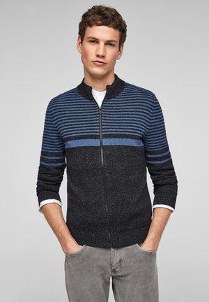 Cardigan - dark blue stripes