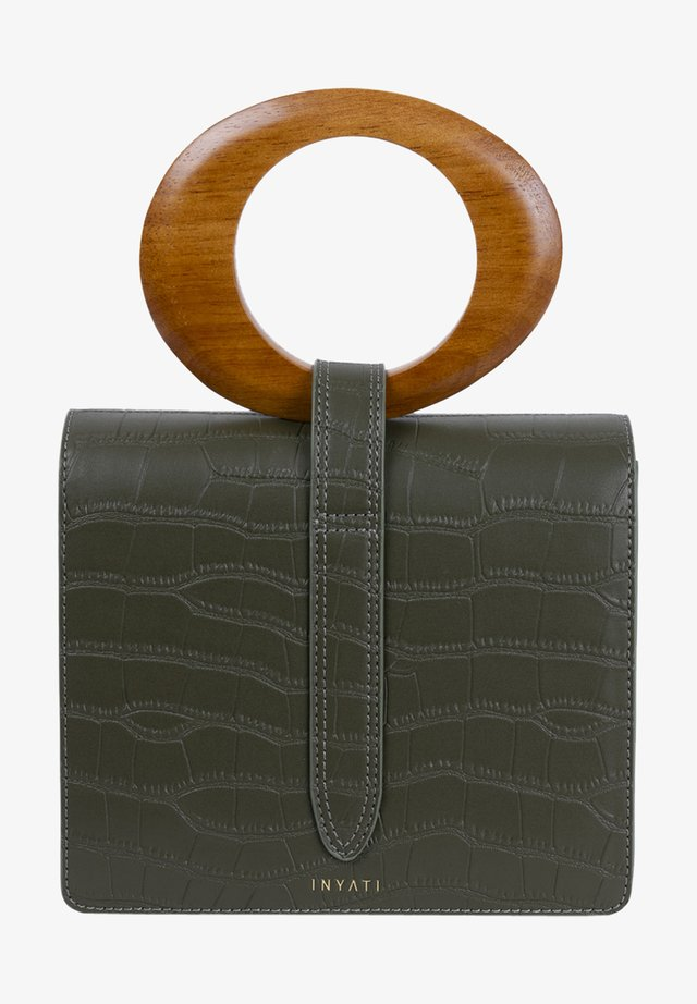 Clutch - dark olive croco