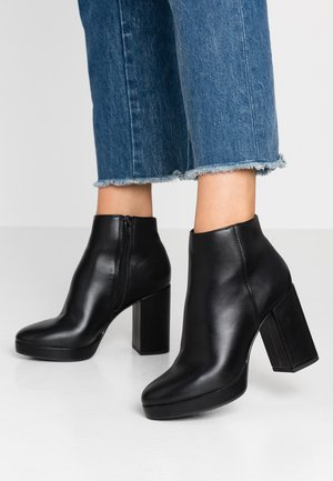 CUBA - High heeled ankle boots - black