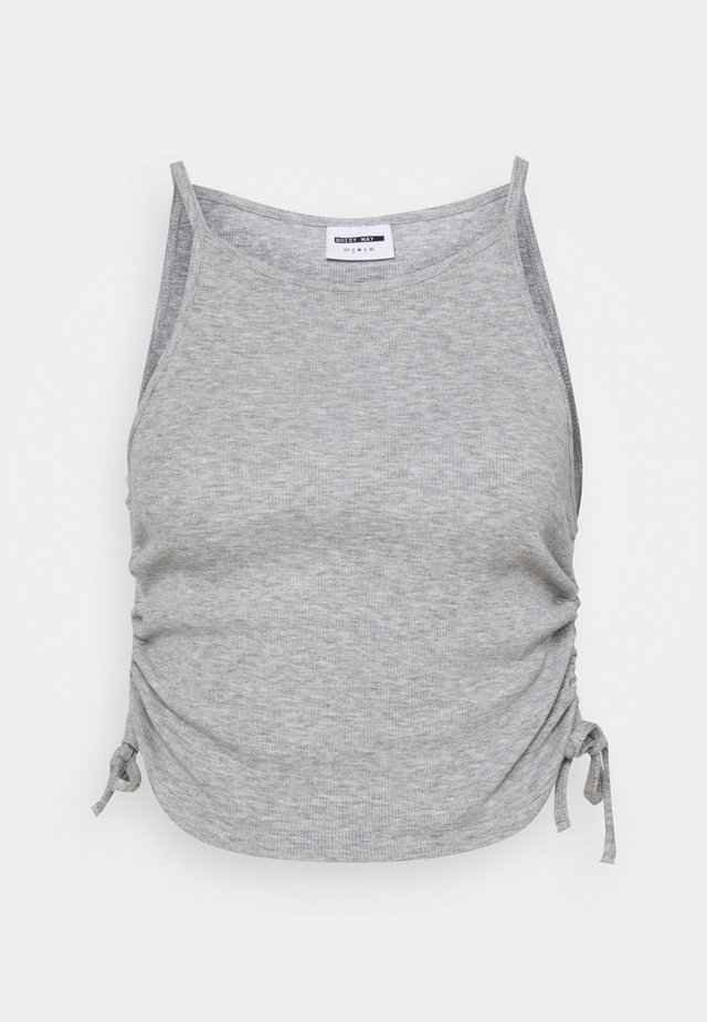 NMSTINE ROUCHING - Top - light grey melange