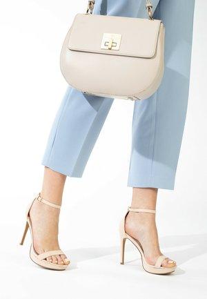 CRYSTAL - High heeled sandals - nude