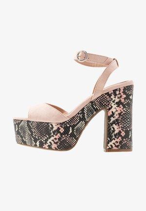 SCARED - Sandaler med høye hæler - oatmeal