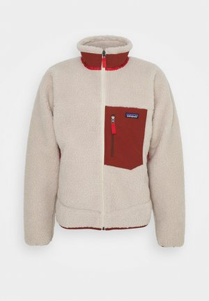 CLASSIC RETRO - Fleece jacket - natural/barn red