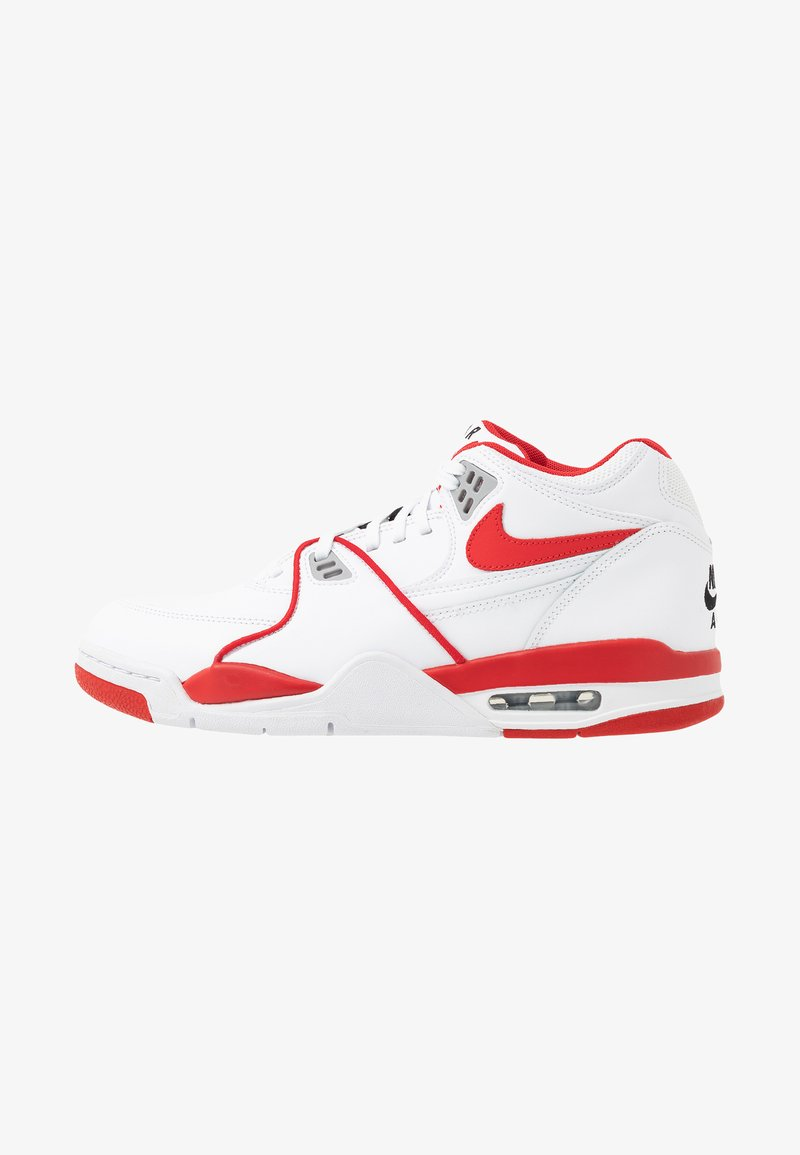 Nike Sportswear - AIR FLIGHT 89 - Korkeavartiset tennarit - white/university red
