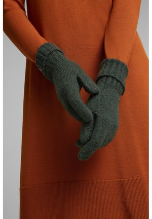 Gloves - dark green