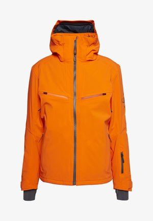 BRILLIANT - Ski jacket - red orange/ebony
