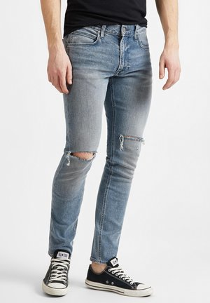 LUKE - Jeansy Slim Fit - mottled blue