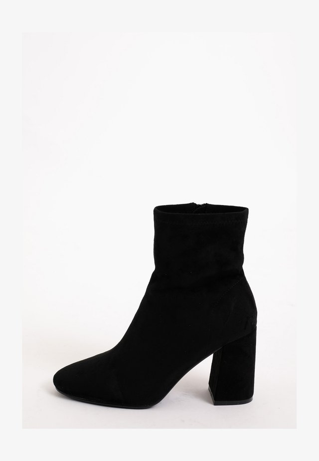 High heeled ankle boots - schwarz