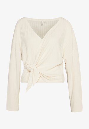 LUXURIOUS WRAP - Topper langermet - offwhite
