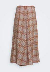 Rika - FLOW SKIRT - A-line skirt - brown/red - 5
