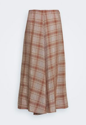 FLOW SKIRT - Áčková sukně - brown/red