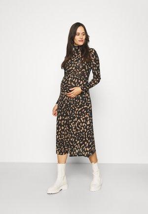 DRESS MOM AGATHA - Gebreide jurk - black