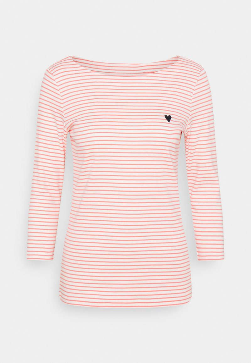 TOM TAILOR - STRIPE BOAT NECK - Long sleeved top - white peach