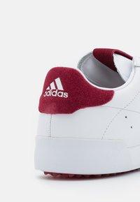 adidas Golf - ADICROSS RETRO - Golf shoes - footwear white/team college burgundy - 5