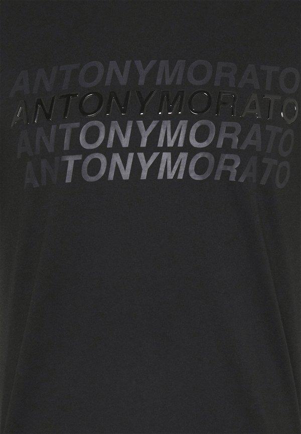 Antony Morato SLIM FIT WITH LOGO - T-shirt z nadrukiem - nero/czarny Odzież Męska EUZU