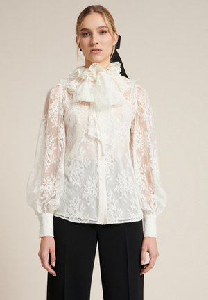 Button-down blouse - panna