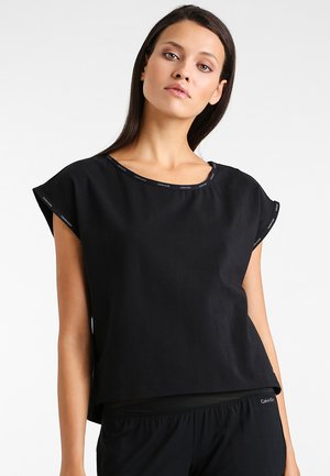 CURVE NECK - Pyjama top - black
