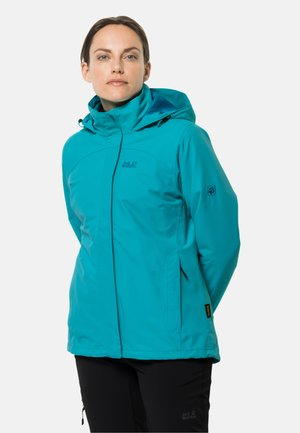POURING RAIN 3IN1 - Waterproof jacket - dark cyan