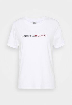AMERICANA LOGO TEE - T-shirt imprimé - white