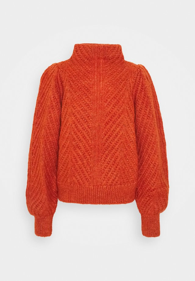 VMSIRISTITCH HIGHNECK - Sweter - red clay