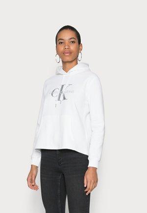 GLOSSY MONOGRAM HOODIE - Sweatshirt - bright white