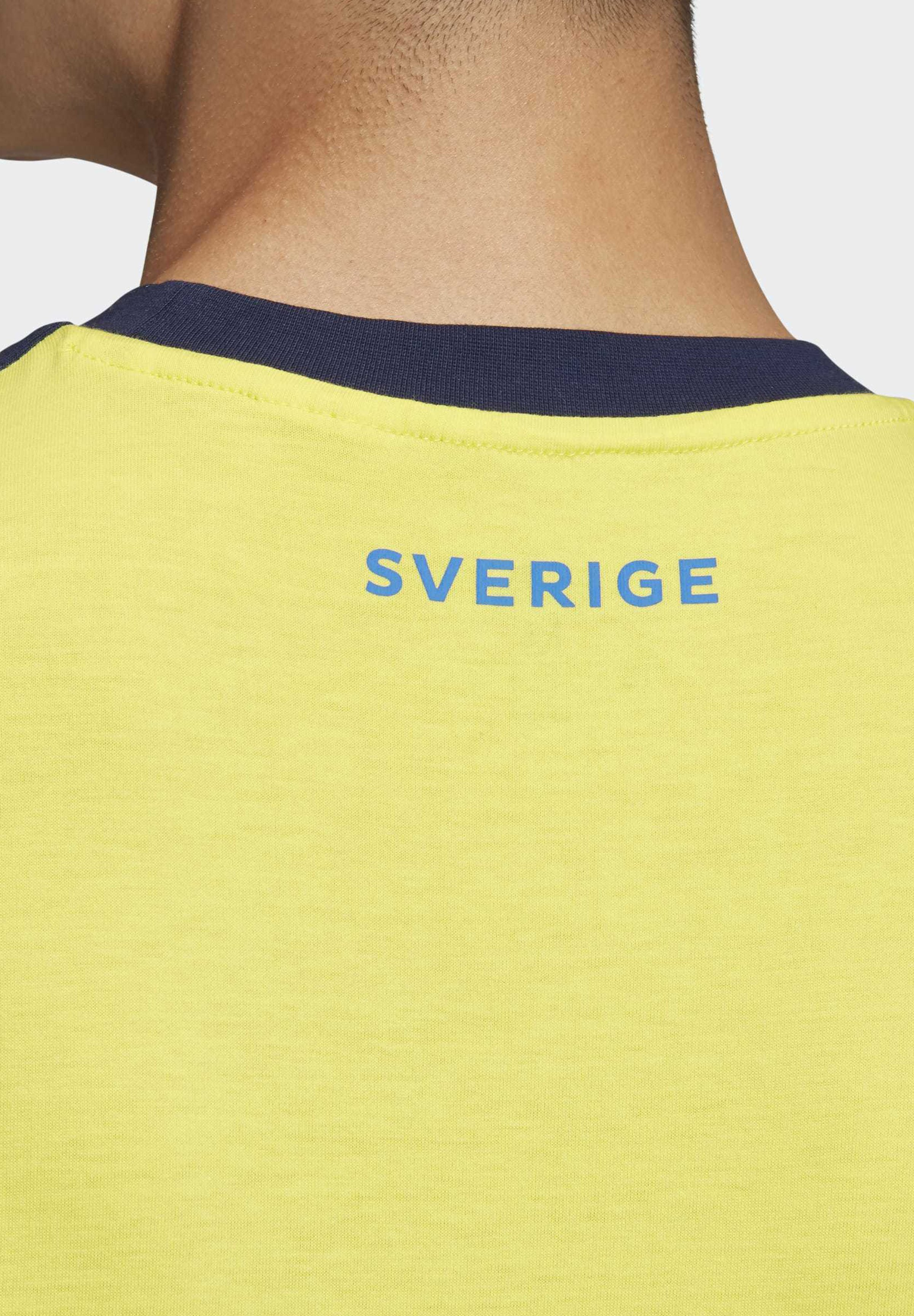 adidas Performance SWEDEN 3-STRIPES T-SHIRT - Print T-shirt - yellow LC1dX