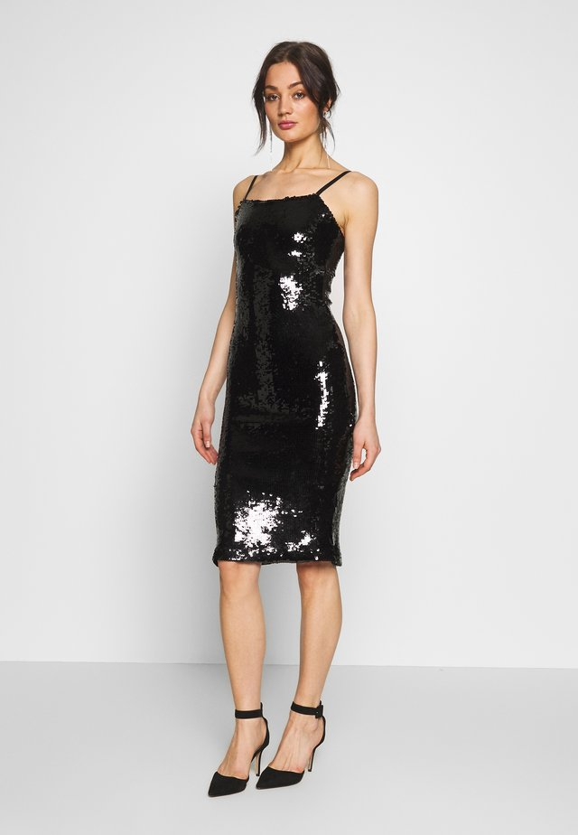 SEQUIN DRESS - Vestito estivo - black
