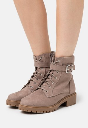 MONA LACE UP BOOT - Lace-up ankle boots - grey