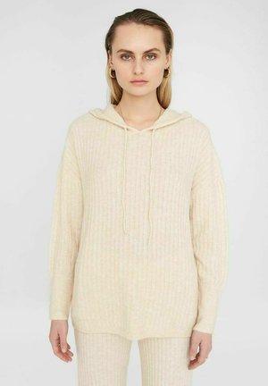 Jersey con capucha - off. white melange