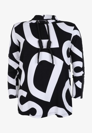 Long sleeved top - schwarz/weiß