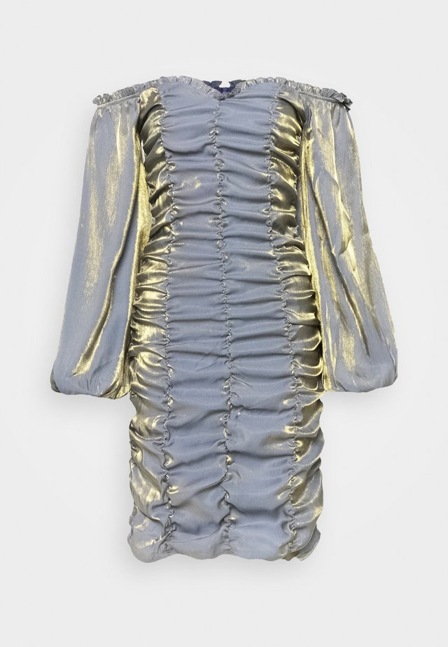 LADIES DRESS - Korte jurk - blue/gold metallic
