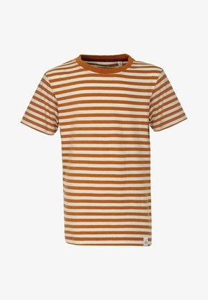Print T-shirt - rust