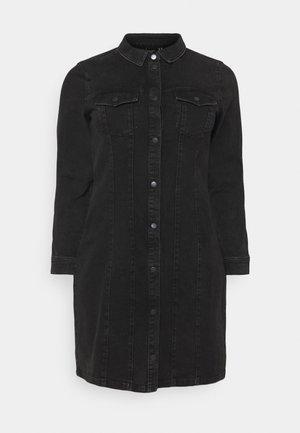 VMAVIIS STITCH DRESS  - Denimové šaty - black